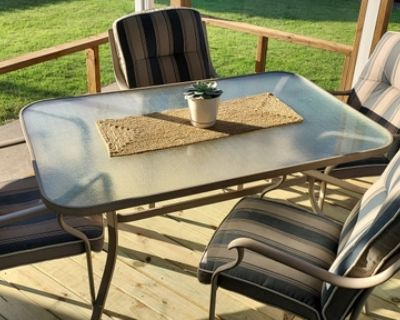 Patio Table, Chairs and Chair Cushions