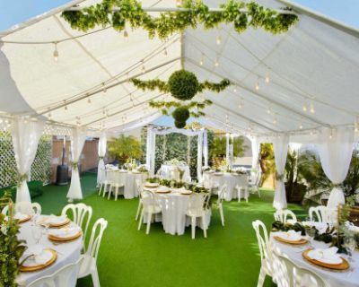 Beautiful Chic Boho Event Venue with Bright Open Main Room & Gorgeous Tented Patio!, Burbank, CA