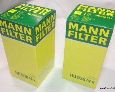 Bmw Oem Mann Oil Filter Kits E39 540i M5 Z8 M62 S62 V8 11427510717 Hu938/4x