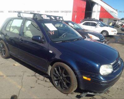 Salvage Blue 2002 Volkswagen Golf