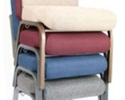 """Black 21""""Wide Church Chair by www.folding-chairs-folding-tables.com"""