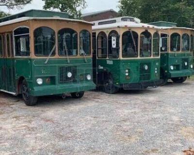 (3 Trolleys) Boyertown Spartan Mobile Business Diesel Trolleys