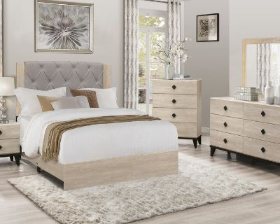 French Country Tufted Queen Bed