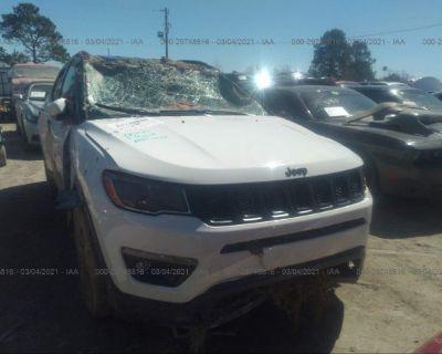 Salvage White 2021 Jeep Compass