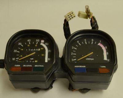Yamaha Xv750 Xv 750 Virago Instrument Cluster Speedometer Tachometer