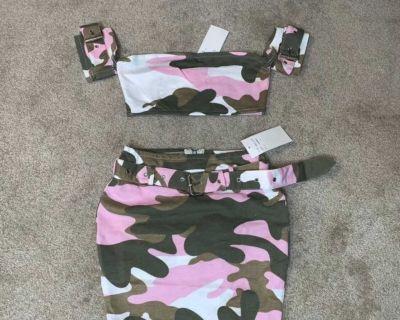 Women s Camofluage skirt set