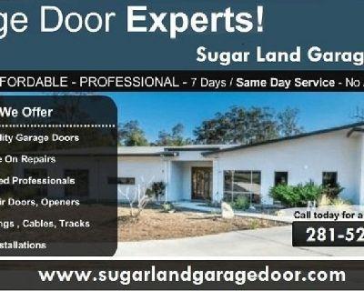 Affordable New Garage Door Installation Service $25.95  Sugar Land, 77498
