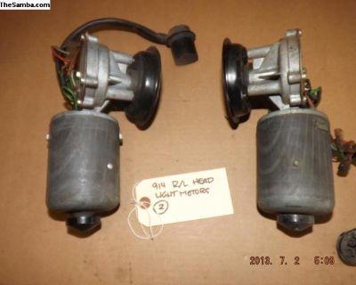 Porsche 914 Left and Right Headlight Motors