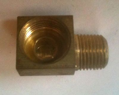 """Brass 90 Degree 1/4"""" Male To 5/16"""" Inverted Female Be250312if @ Speed Tech"""