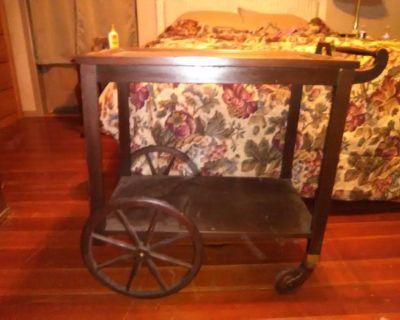 Antique tea cart
