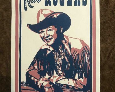 vintage roy rogers poster 1950,s