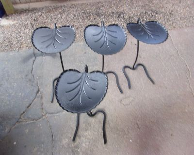 4 Stackable Wrought Iron Tabels