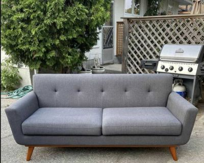 MCM Charcoal Grey Couch