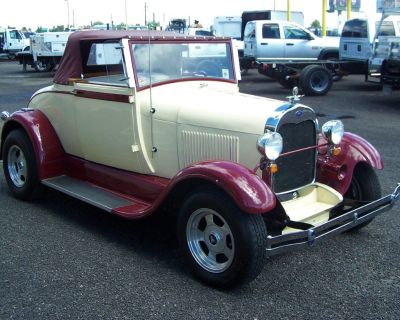 1928 FORD MODEL A STREET ROD WITH RUMBLE SEAT