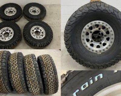 4 Method 15x4.5 VW/Buggy 5 lug wheels with new 33x10.5R15 BFG ATs