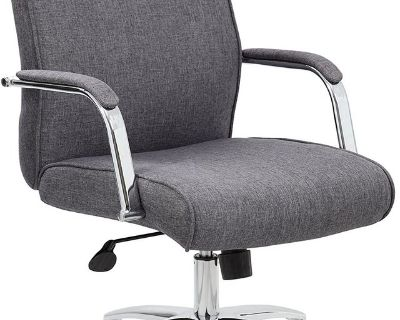 Boss Office Products Modern Executive Conference Chair - Grey - New!
