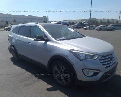 Salvage Gray 2016 Hyundai Santa Fe