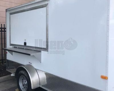 2019 - 7' x 12' Cargo Craft Food Concession Trailer with Pro Fire Suppression