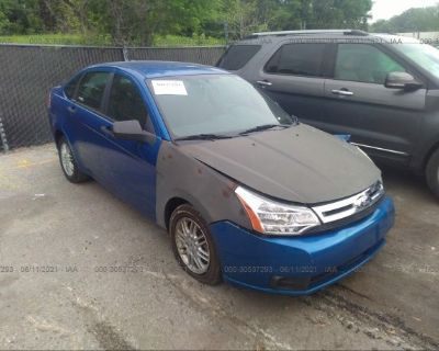 Salvage Blue 2010 Ford Focus