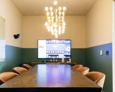Elegant 8 Person Conference Room - Downtown - Whiteboard - TV, Philadelphia, PA