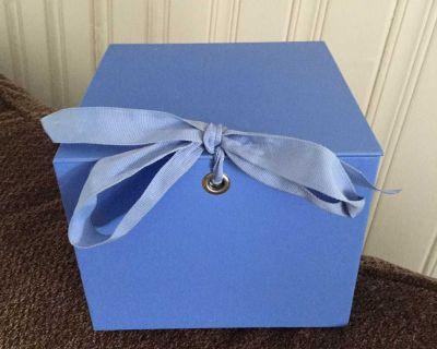 Hallmark keepsake box with ribbon tie close