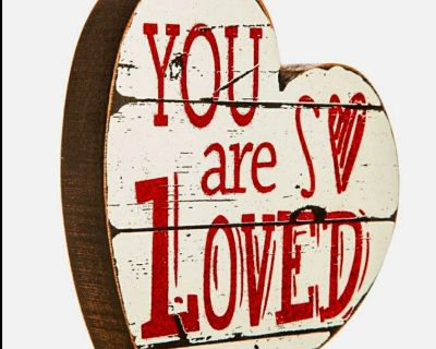 "NEW ""You Are So Loved"" Chunky Wooden Heart"