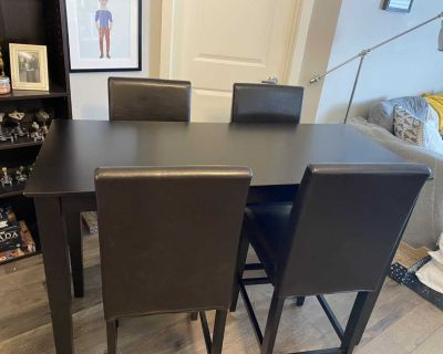 Moving sale! JYSK kitchen table and four chairs