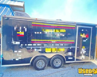2018  8' x 16' Licensed Commercial Kitchen Food Concession Trailer