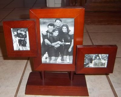 Walnut dimensional 3 opening collage photo frame