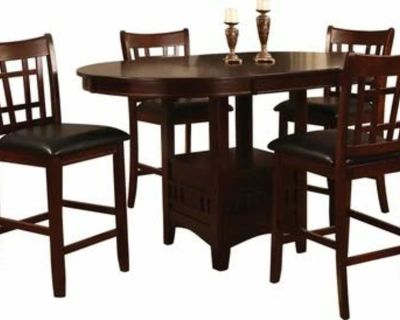 Counter height table with 6 chairs