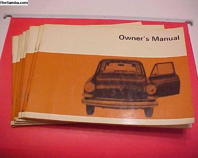 NOS 1970 Square/Fastback owners manual