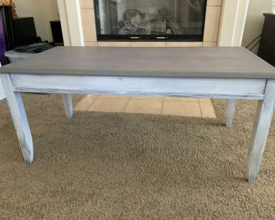 Gray and white coffee table