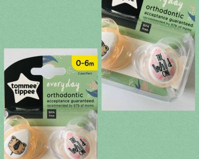 New Tommee Tippee Pacifiers 0-6m