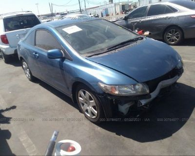 Salvage Blue 2010 Honda Civic Cpe