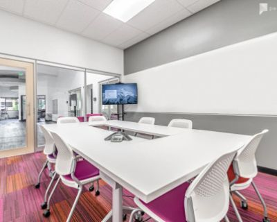 Colorful modern meeting room for 8, Denver, CO
