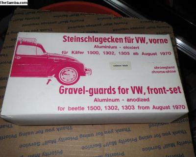 NOS VW Front Fender Guards Black