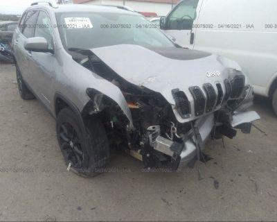 Salvage Gray 2017 Jeep Cherokee