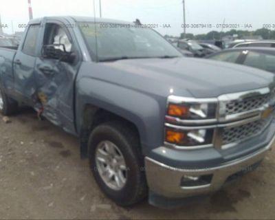Salvage Blue 2015 Chevrolet Silverado 1500