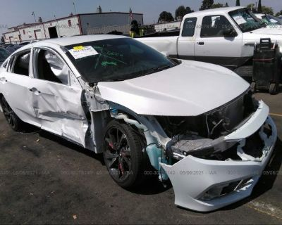 Salvage White 2019 Honda Civic Sedan
