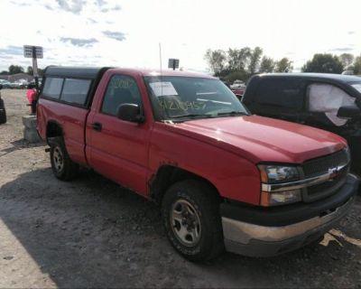 Salvage Red 2004 Chevrolet Silverado 1500