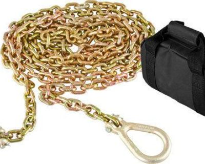 """16.5' 4x4 Recovery Tow Chain-4wd Grade 70, 5/16"""" Grab Hooks (drag-chain-hd)"""