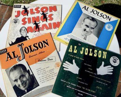 """4 VINTAGE AL JOLSON ALBUMS (10"""" - 33 1/2 RPM)"""