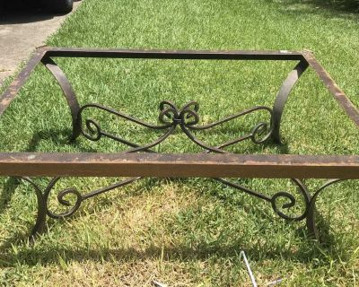 Rustic, wrought iron coffee table