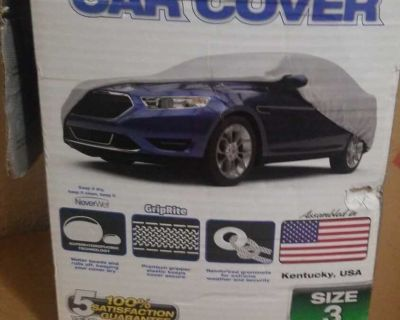 never wet rust-oleum car cover size 3 (cars fits listed in pics) Retails for over 80 bucks asking $45 obo