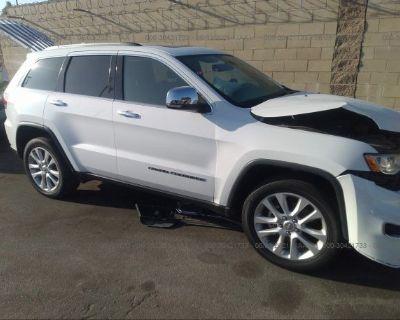 Salvage White 2017 Jeep Grand Cherokee