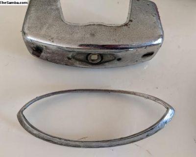 VW Ghia Tail Light Trim Ring Chrome Bumper Guard