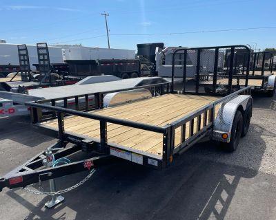2021 PJ Trailers 83 in. Tandem Axle Channel Utility (UL) 16 ft. Utility Trailers Elk Grove, CA