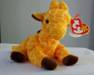 Twigs the Giraffe Ty Beanie Baby DOB 5-19-1995 MWMT w/Tags - RETIRED