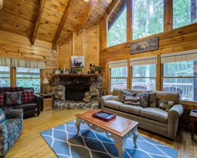 Charming cabin with wood-burning fireplace, hot tub, and pool access - Pigeon Forge