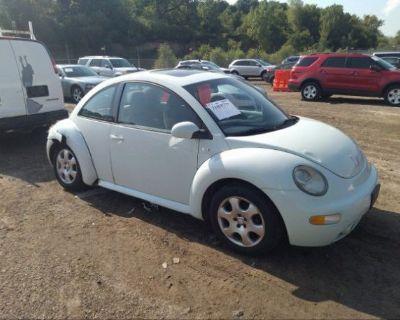 Salvage Light Blue 2002 Volkswagen New Beetle